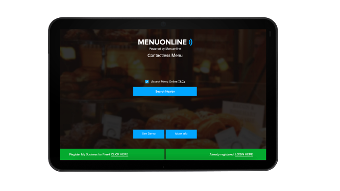 Easy to Use Menu online