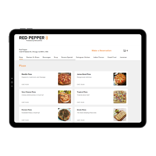 Safe and Environment Friendly Menu Online