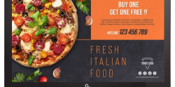 Pizza Joint Digital Signage